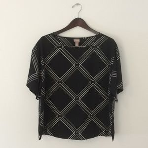 Chico's size 2 dress top blouse shirt